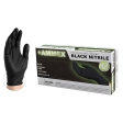 AMMEX - ABNPF42100S - Black Nitrile Gloves, 4 mil, Latex Free, Powder Free, Textured, Disposable, Non-Sterile - Small - 100/Pack