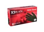 AMMEX - BX348100 - X3 Nitrile Glove, Black, Powder Free - XL - 100/Pack