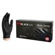 AMMEX - BX3D44100M - X3D Black Nitrile Industrial Powder-Free 3 Mil Disposable Gloves, Medium - 100/Pack
