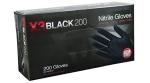 AMMEX - BX3D49100 - Nitrile Gloves, Powder Free, Latex Free, 3 mil, Black - XXL - 200/Pack
