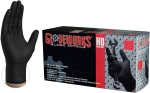 AMMEX - GWBN46100 - GloveWorks HD Industrial Black Nitrile Gloves with Diamond Grip, 6 mil, Powder Free, Textured - Large - 100/Pack