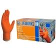AMMEX - GWON48100XL - HD Orange Nitrile Diamond Texture Industrial Powder-Free 8 Mil - XL - 100/Pack