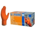 AMMEX - GWON49100 - HD Orange Nitrile Diamond Texture Industrial Powder-Free 8 Mil - XXL - 100/Pack