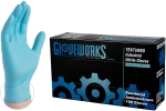 AMMEX - IN44100 - GloveWorks Industrial Nitrile Powdered, Blue - Medium - 100/Pack