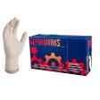 AMMEX - TLF44100 - Gloveworks Industrial White Latex Gloves, 4 mil, Powder Free, Textured, Non-Sterile - Medium - 100/Pack