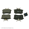 Beck Arnley - 089-1325 - Premium Semi-metallic Disc Brake Pads