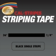 Cal-Stripes - 214-03 - Black Single Pinstriping Tape 1/4