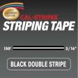 Cal-Stripes - 3165-03 - Black Double Stripe 3/16