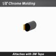 Cal-Stripes - 37-032 - Chrome Body Molding Trim 1/8