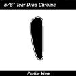 Cal-Stripes - 37-1120 - Chrome Tear Drop Wheel Well Molding 5/8