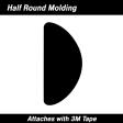 Cal-Stripes - 37-633 - Gold Half Round Molding 3/8