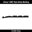 Cal-Stripes - 38-320 - Chevy/GMC Black w/ Chrome Molding 3 7/8