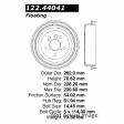 Centric - 122.44041 - Premium Brake Drum