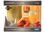 Camco - 43881 - Juice Glass 7Oz Acrylic BPA Free - 2/Pack