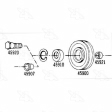 Four Seasons - 45907 - Drive Belt Idler Pulley Spacer