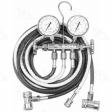 Four Seasons - 59198 - R134a Brass Fahrenheit Manifold Gauge Set w/ Coupler