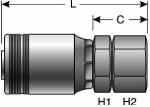 Gates - G24170-2424 - Hydraulic Coupling / Adapter