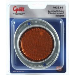 Grote - 40233-5 - Yellow Plastic Round Reflector