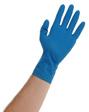 Atlantic Safety Products - BLUE-M - Blue Latex PF 15mil Disposable Glove - Medium - Box/50