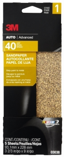3M - 03038 - Aluminum Oxide Automotive Sandpaper, 03038, Coarse, 3 2/3 in x 9 in
