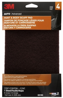 3M - 03193 - Paint and Body Scuff Pad, 03193, 6 inch x 9 inch