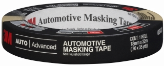 3m 06652 18 mm x 55 m automotive refinish masking tape pack of 48