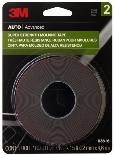 3M - 03616 - Scotch-Mount Molding Tape, 03616, 7/8 in x 15 ft