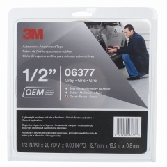 3M - 06377 - Automotive Attachment Tape, 06377, Gray, 1/2 in x 20 yd, 30 mil