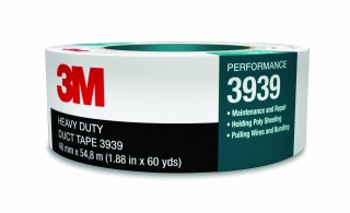 3M - 06975 - Duct Tape 3939 Silver, 48 mm x 54.8 m 9.0 mil, Individually Wrapped
