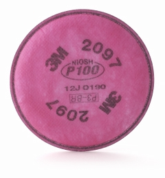 3M - 07184 - Particulate Filter, P100, with Nuisance Level Organic Vapor Relief - 1 Pair