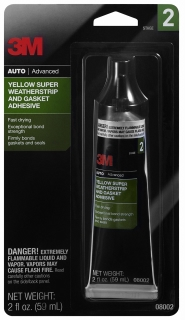 3M - 08002 - Yellow Super Weatherstrip and Gasket Adhesive - 2oz