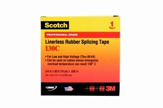 3M - 41717 - Scotch 130C Premium Linerless Rubber Splicing Tape, 3/4 in x 30 ft