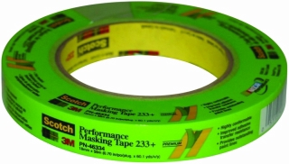 3M - 46334 - Scotch Performance Green Masking Tape 233+, 18 mm width (.71 inches)