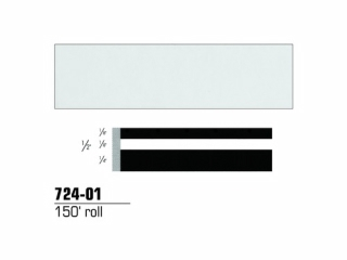 3M - 724-01 - Scotchcal Striping Tape 72401, White, 1/2 in x 150 ft