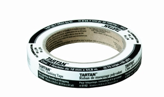 3M - 92107 - Tartan Utility Masking Tape 5142-.18E, .70 in x 60.1yd (18 mm x 54,8 m) for Labeling, Bundling and Wrapping