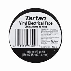 3M - 93604 - Tartan Electrical Tape 1615, .709 in x 60 ft x 6 mil
