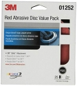 3M - 01252 - Red Abrasive Stikit Disc Value Pack, 01252, 6 inch, P320