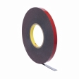 3M - 06386 - Automotive Acrylic Plus Attachment Tape, Black, 1/4 In X 20 Yds, 45 mil