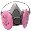 3M - 07002 - 6291 Half Facepiece Respirator Assembly (AAD), Medium, w/Particulate Filters 2091/07000(AAD), P100 - 70070614436