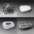 3M - 07179 - Dual Cartridge Respirator Packout 07179, Organic Vapor/P95, Large