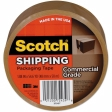 3M - 91765 - Scotch Commercial Grade Packaging Tape 3750T-6, 1.88 in x 54.6 yd 6 Pack Tan - 70005073054