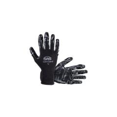 SAS - 640-1909 - PawZ Black Nylon Knit Shell Gloves - Nitrile Palm Coating - Large