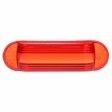 Trucklite - 99050R - Oval Red Polycarbonate