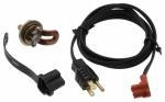 ZeroStart - 310-0096 - Engine heater, 400W 120V, 30mm Plug, Lombardini, (Brass Adapter)