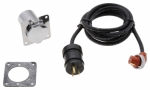 ZeroStart - 860-6005 - Power Cord, 120V 15A, 6' (1.8m), Weatherproof with chrome plated, 4 hole square flange receptacle